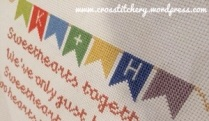 Wedding Bunting Cross Stitch