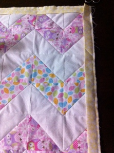 In the process of binding my first quilt.
