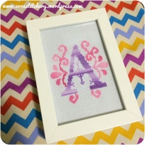 """A"" Embellished Cross Stitch Initial"