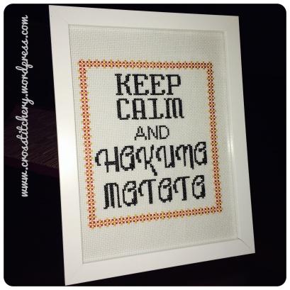 Keep Calm and Hakuna Matata Cross Stitch