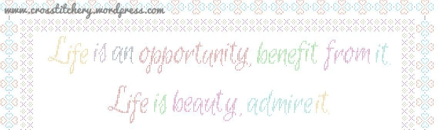 Life Quote, Mother Teresa Cross Stitch Pattern