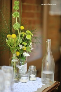DIY Hessian Mason Jars
