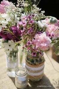 Hessian & Lace Mason Jars