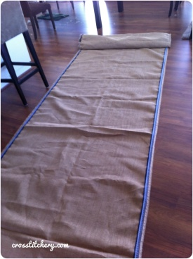 Hessian Aisle Runner 1