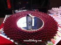 DIY Chrysathemum Spoon Mirror - Progress Shot