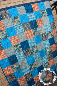 Baby Boy Square Quilt - Top