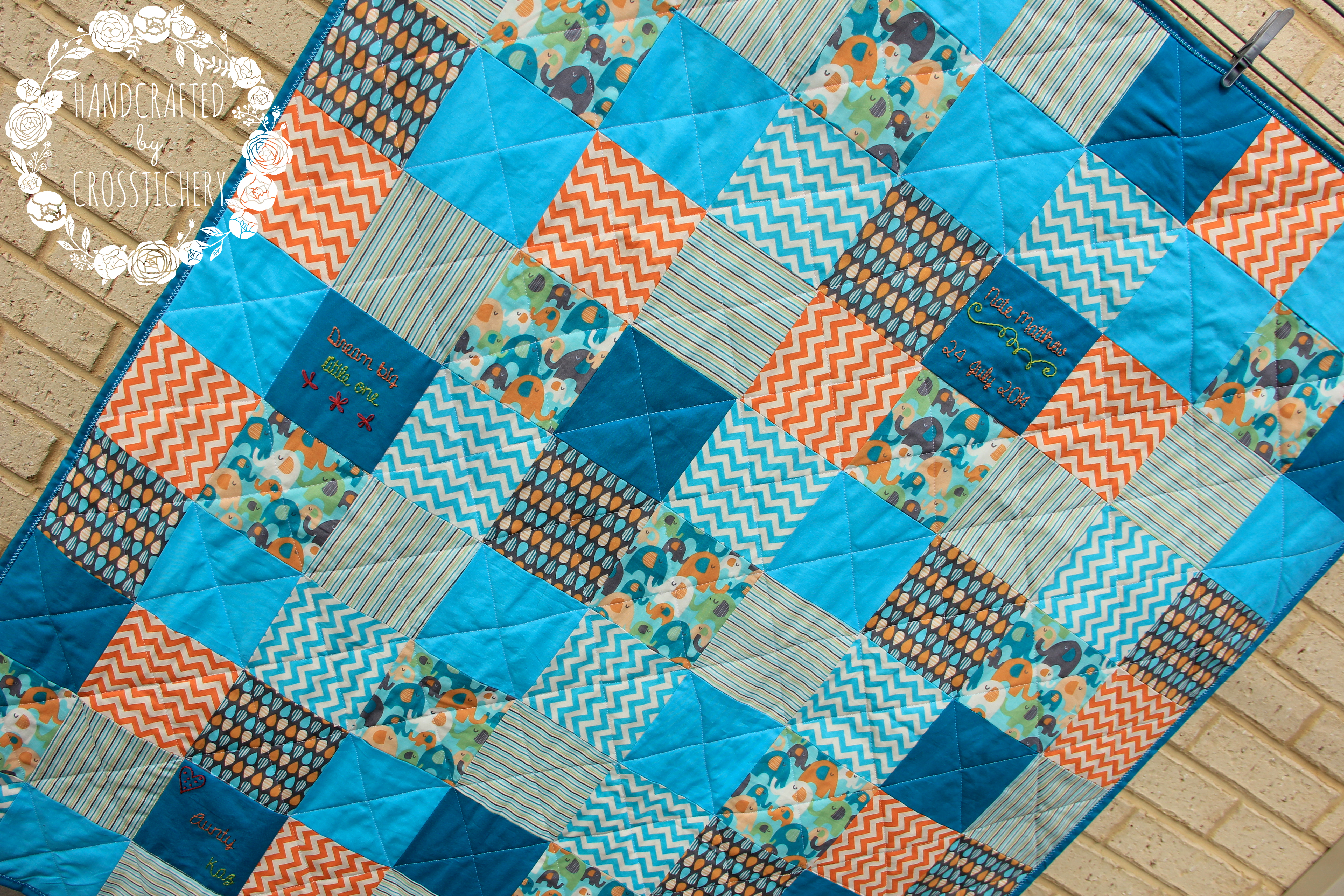 Baby Boy Square Quilt Top 4 | crosstitchery : square quilt - Adamdwight.com