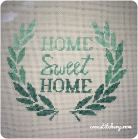 Ombre Home Sweet Home Cross Stitch