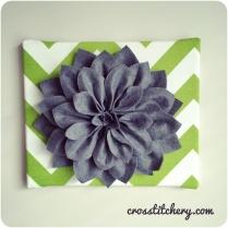 DIY Felt Flower Canvas