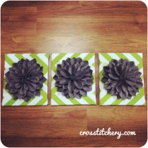 DIY Felt Flower Canvas