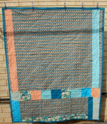 Baby Boy Square Quilt - Back
