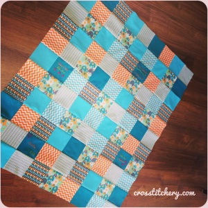 Baby Boy Finished Quilt Top