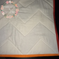 Chevron Baby Quilt - Quilt Back