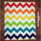 Chevron Baby Quilt - Completed Quilt