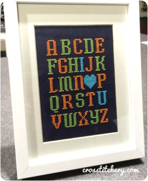 Baby Alphabet Cross Stitch