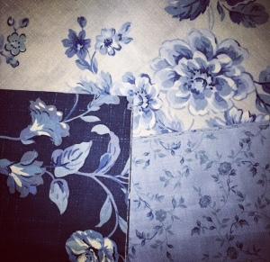 Blue Hue Floral Fabrics