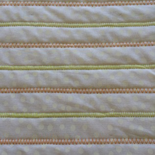 Close Up of Alternate Colour Zig Zag Stitching