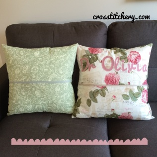 Back of Love Heart Cushions