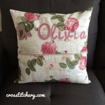 Love Heart Cushion Back