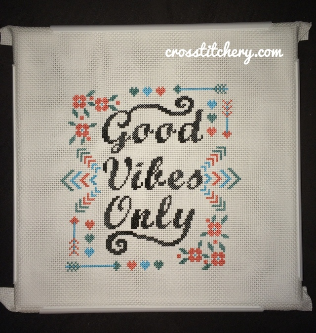 Good Vibes Only Cross Stitch