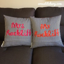 Completed Appliqued Cushions Backs