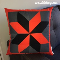 "Completed 'Mr Rockliff"" Cushion Front"