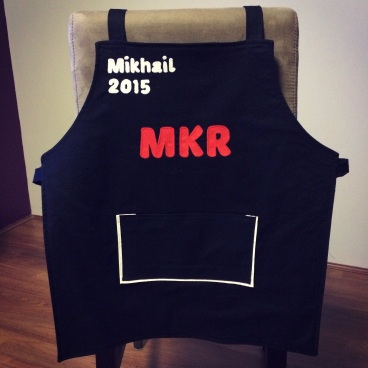Completed My Kitchen Rules Inspired Personalised Apron