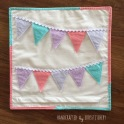 Bunting Cushion Back