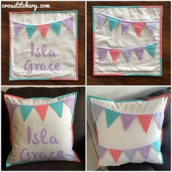 Bunting Cushion Montage
