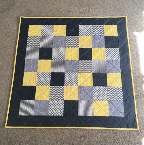 Yellow & Grey Baby Quilt