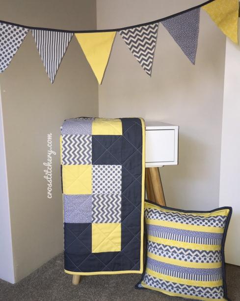 Yellow & Grey Nursery Decor