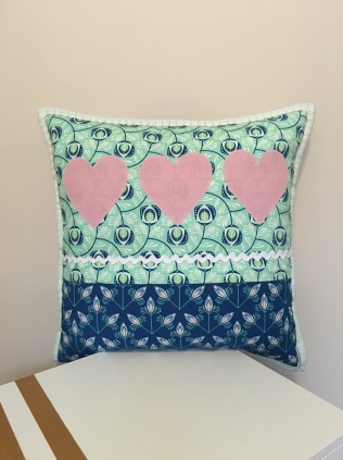 Applique Cushion Back