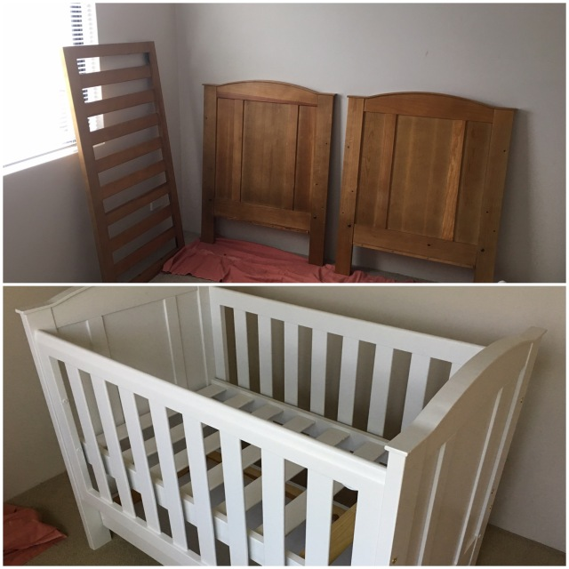 Completed DIY Cot Painting