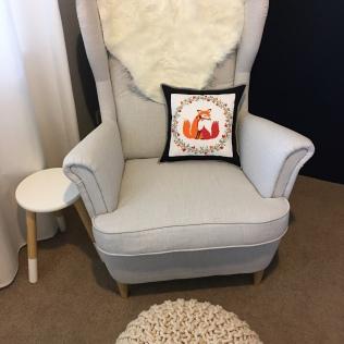 Fox Cross Stitch Cushion